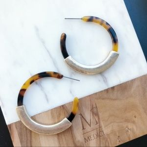 Tortoise Shell Hoops
